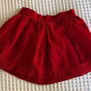 Gap red corduroy skirt